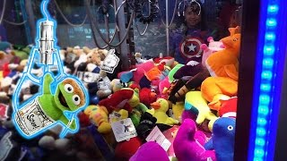 Claw Machine Wins at Dave & Buster's