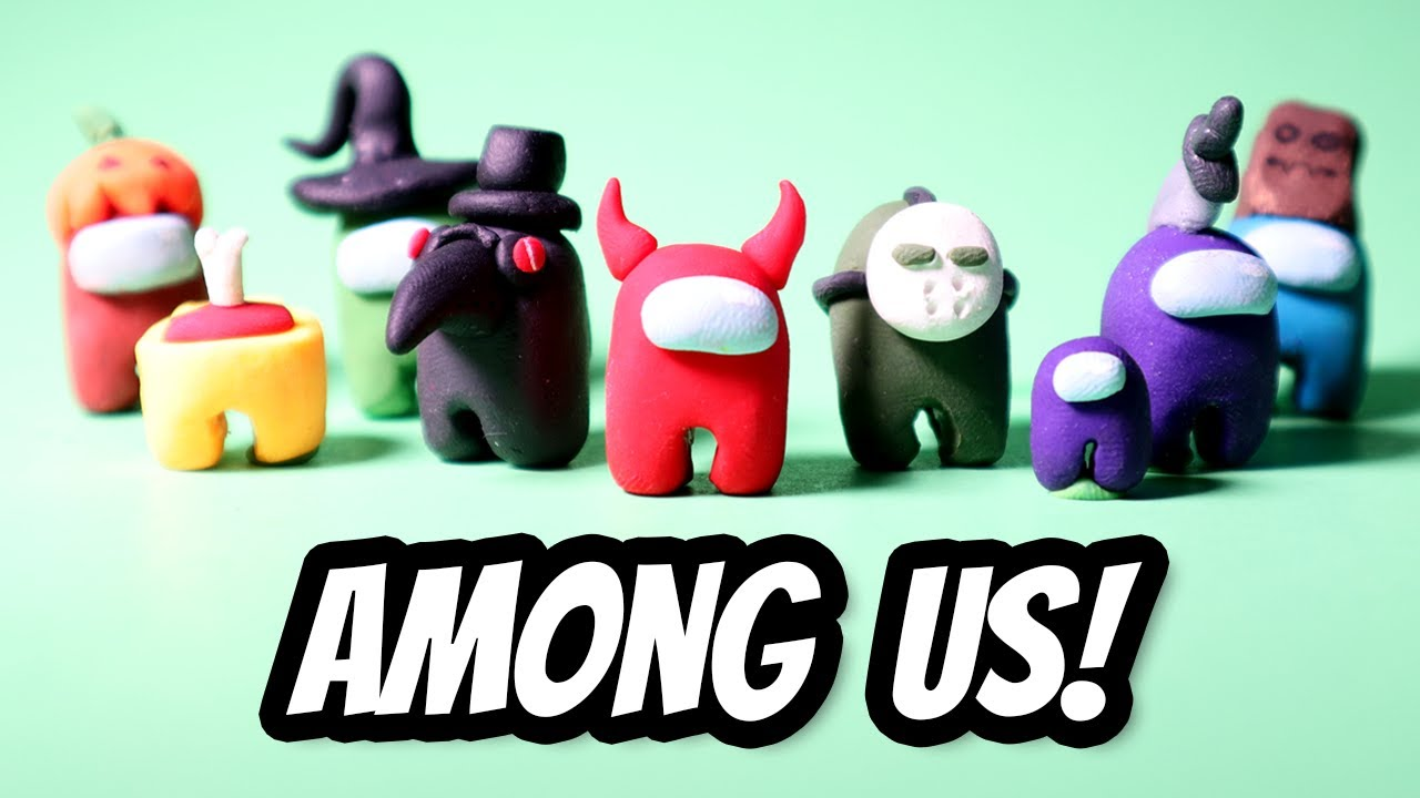 Making Among Us Characters With Polymer Clay Youtube
