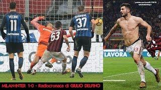 MILAN-INTER 1-0 - Radiocronaca di Giulio Delfino (27/12/2017) …