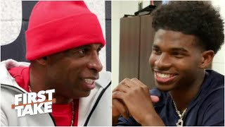 Deion Sanders interviewed by his sons about coaching at Jackson State | First Take