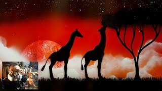 Spray Paint Painting Video of a African Safari Scene....AMAZING!!!!!