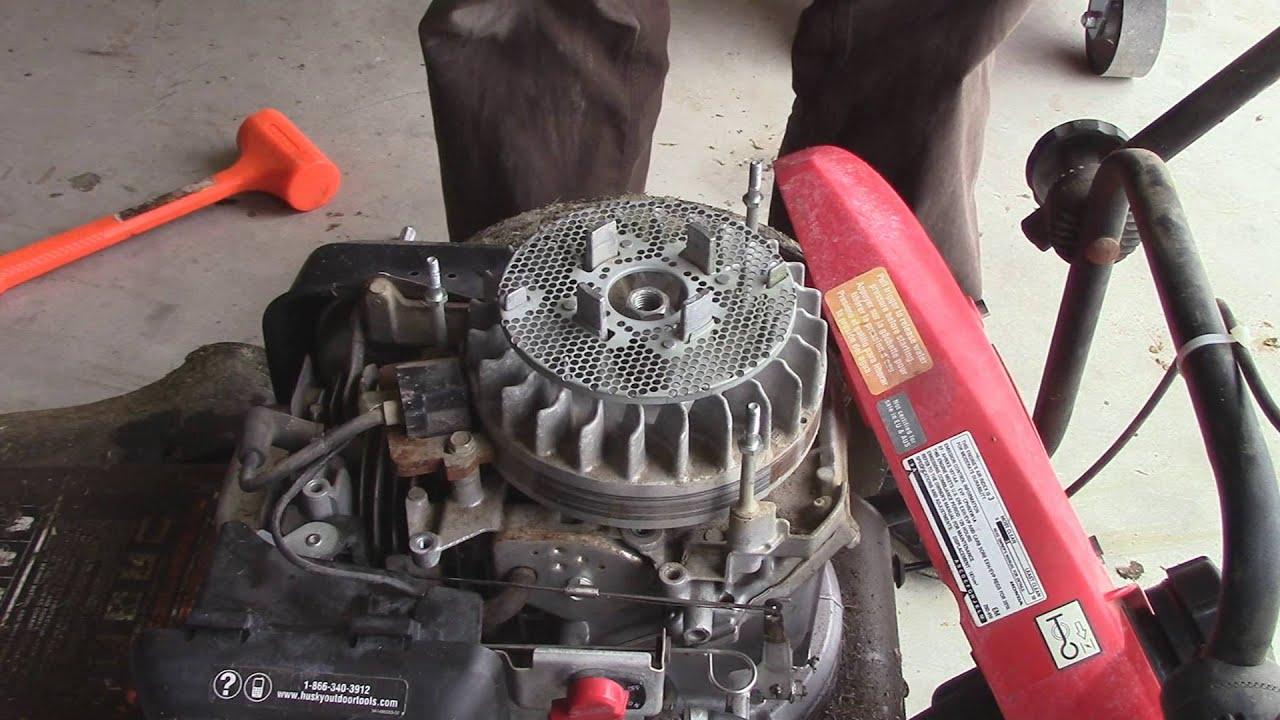 Honda GCV Flywheel and Blade Brake Removal - YouTube