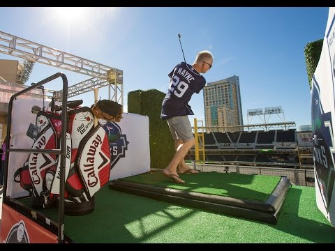Kenny Mayne Plays Golf at Petco Park
