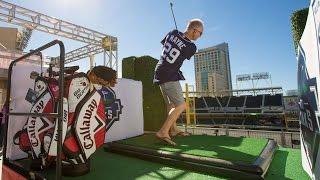 Kenny Mayne Plays Golf at Petco Park