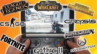 Testujemy gry na GPD WIN 2  - CS:GO, LoL, WoW, PUBG, Fortnite, Gothic, Overwatch, Crysis, Minecraft