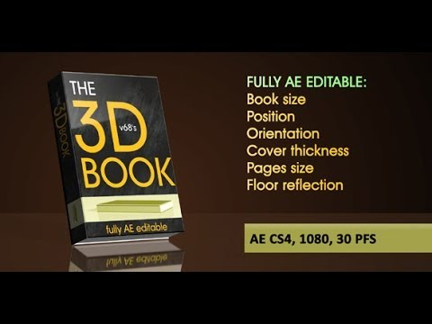 My After Effects Template D Book On Reflecting Floor With Flipping - Editable after effects templates