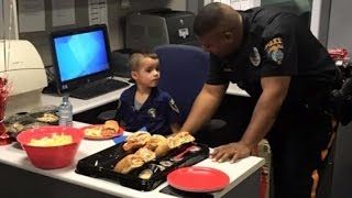 Why This 5-Year-Old Boy Paid For Police Officers