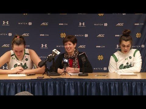 @ndwbb Muffet McGraw Post-Game Press Conference vs. Virginia Tech (2018)