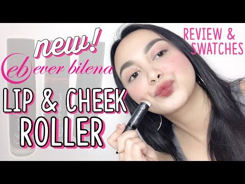 NEW! EVER BILENA LIP & CHEEK ROLLER 😚   Swatches & Review