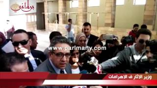 بالفيديو.. وزير الآثار: تخصيص مكان بمنطقة الأهرامات لممارسة رياضة ركوب الخيل
