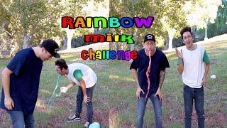 Rainbow Milk Challenge | Brennen Taylor