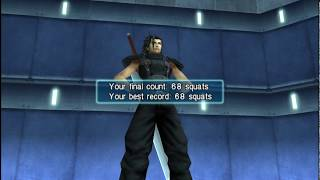 Crisis Core: Final Fantasy VII - MAX Record *68* Squats mini game