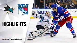 NHL Highlights | Sharks @ Rangers 2/22/20