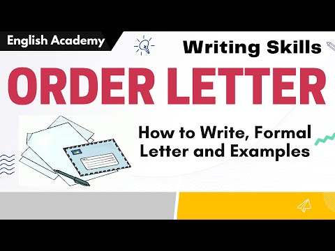 How To Write Order Letter - Order Letter Examples - Formal Letter Writing Skills