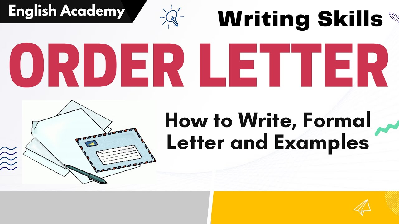how to write order letter order letter examples formal letter writing skills