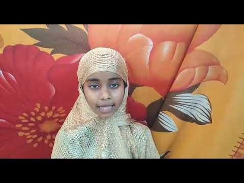 Islamic ABC a little girl