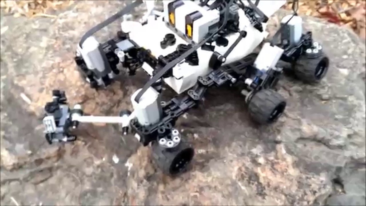 Technical LEGO Remote control Mars rover Curiosity YouTube