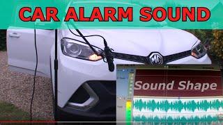 Car Alarm Sound Effect HQ Audio Freesound Making Sound Effects