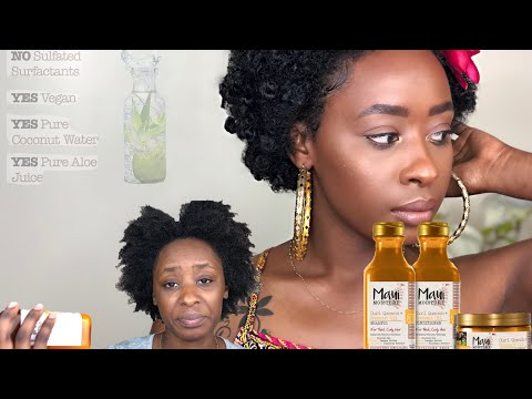 MAUI MOISTURE REVIEW WITH A BANTU KNOT FRO!!