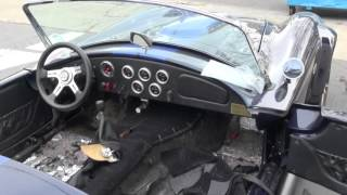 427 Replica Cobra interior conversion to a street car by Cooks Upholstery