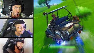 STREAMERS REACT TO GOLF CART HILARIOUS MOMENTS! | Fortnite Highlights & Funny Moments #69