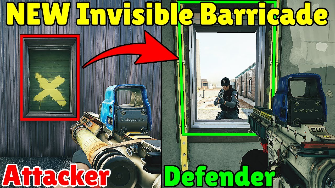 *NEW* Defenders Can See Through Invisible Closed Barricades!  - Rainbow Six Siege