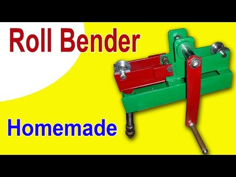How to make a Roll Bender. Homemade Roll Bender for Square Pipe and Flat Steel