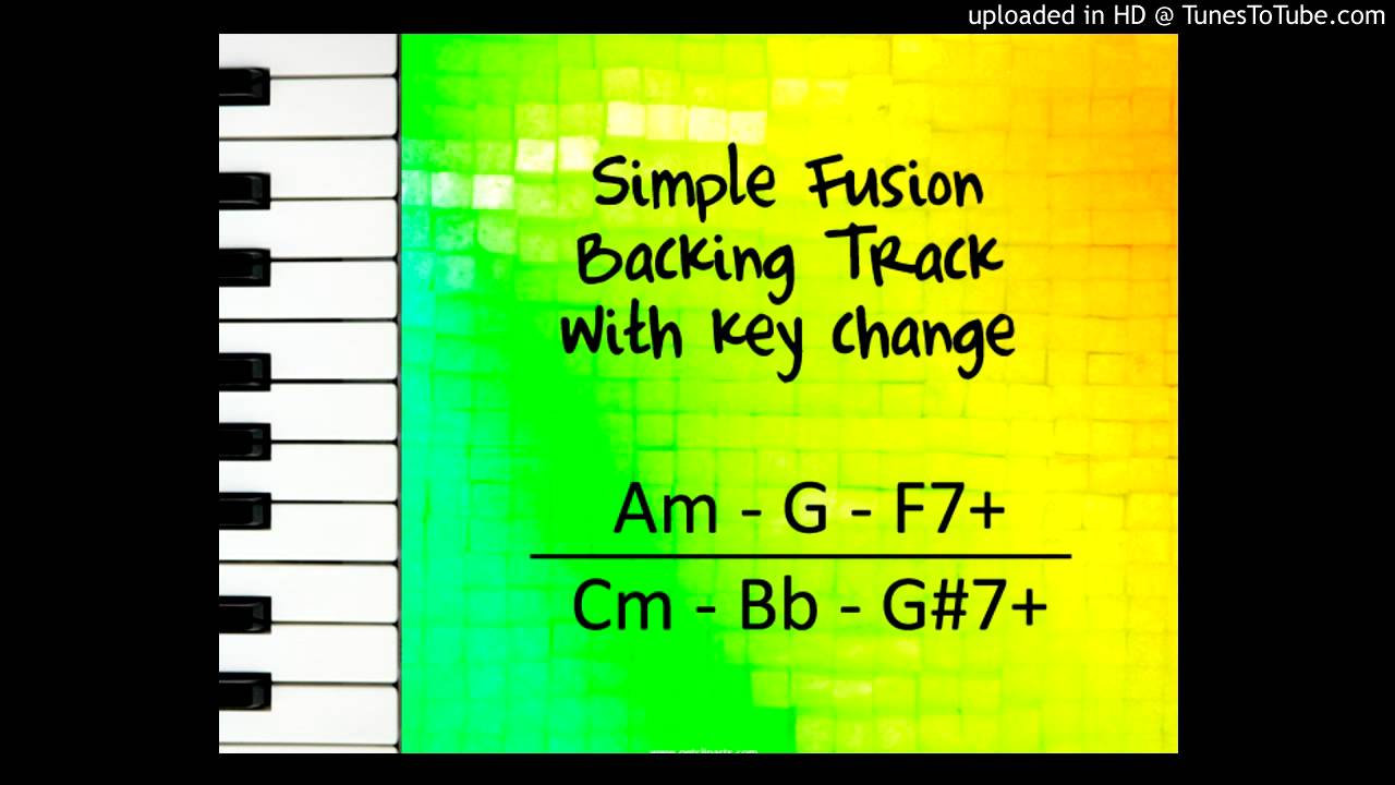 (Play Along) Simple Fusion Backing track with key change (Am to Cm)