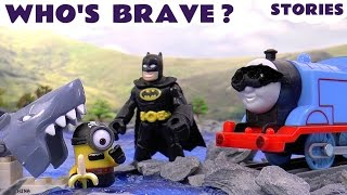 Thomas and Friends with Batman and Minions | Avengers with Play Doh and Surprise Eggs | Toytrains4u