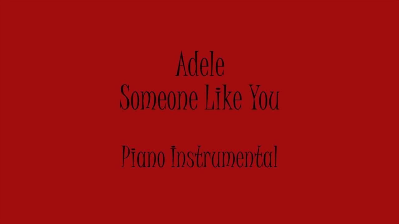 Adelesomeone Like You Instrumental Free Mp3 Download