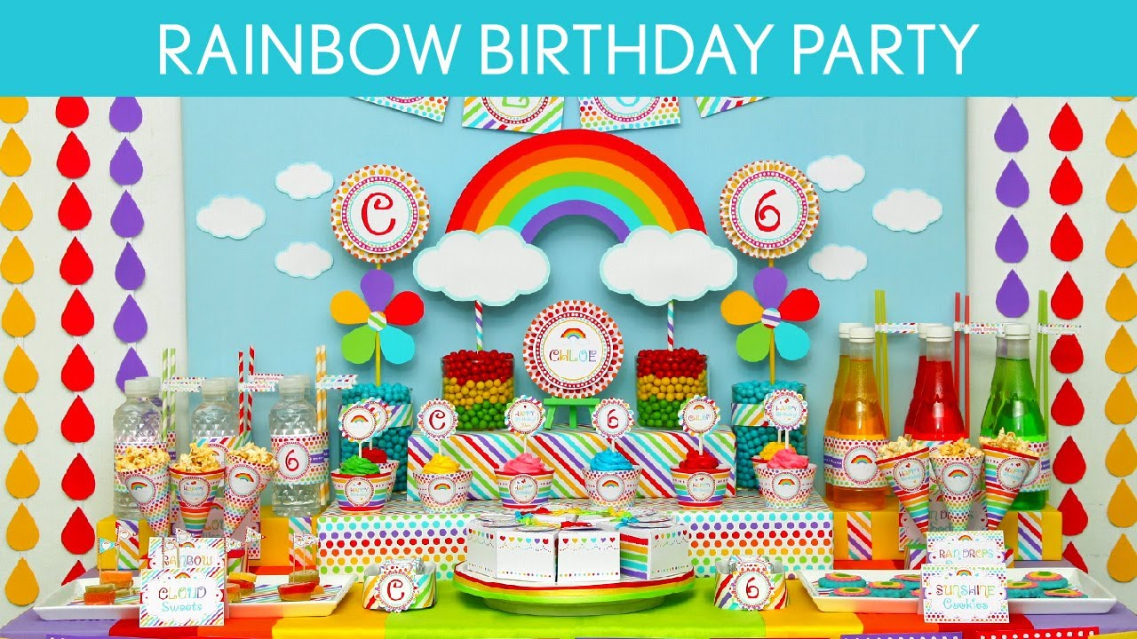 rainbow birthday Rainbow Birthday Party Ideas // Rainbow   B41   YouTube rainbow birthday