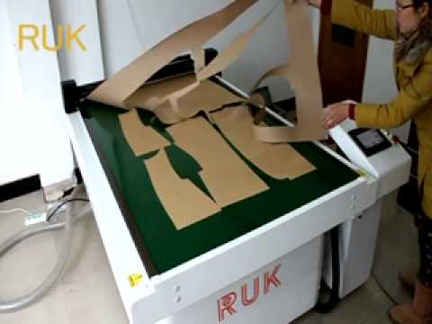 RJKH flatbed pattern cutting machine for garment , shoe and bags industry