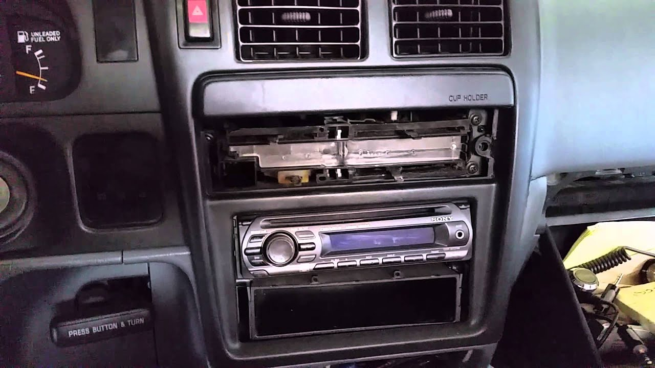 HOW TO: Remove the radio from a Toyota Tacoma - YouTube