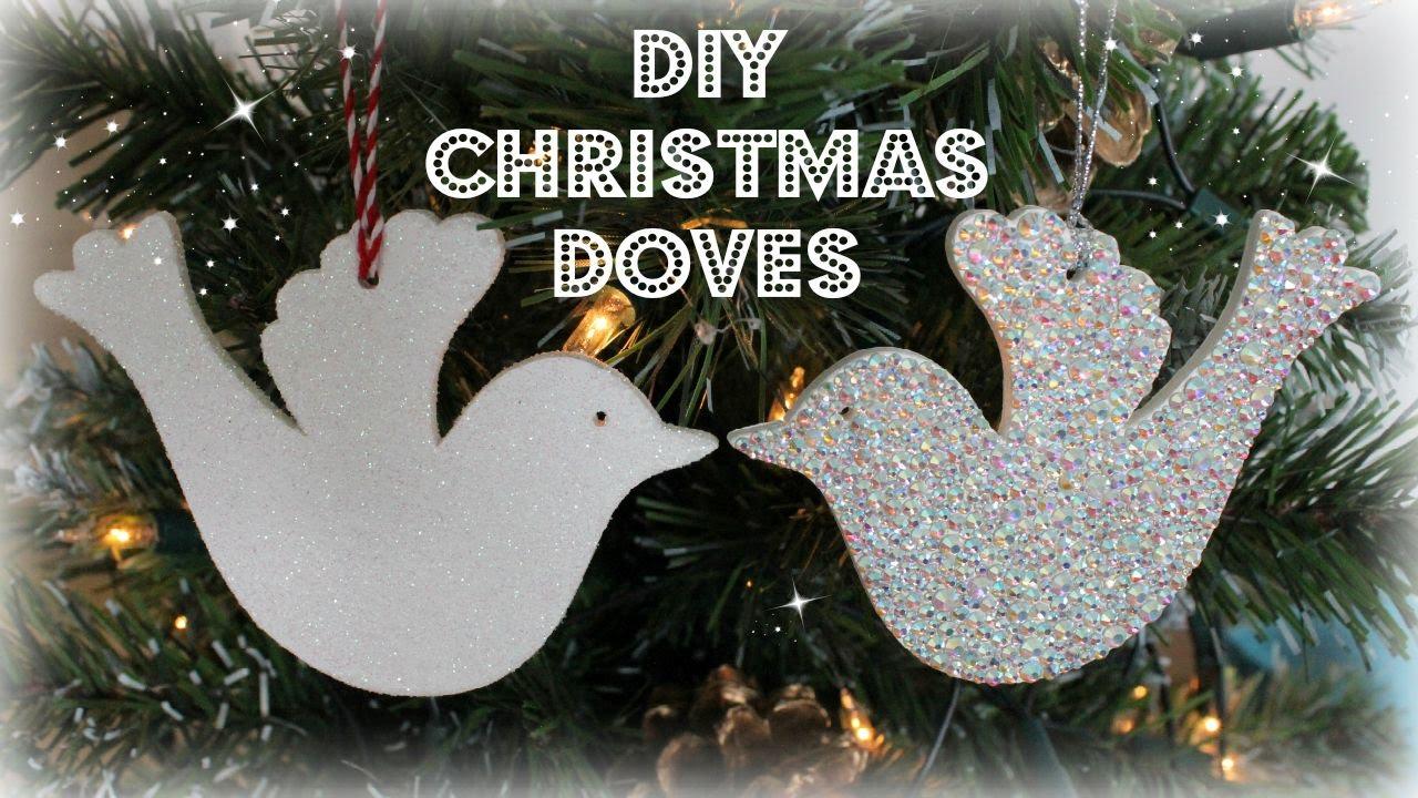 White dove christmas ornaments - Diy Christmas Dove Christmas Tree Decorations Christmas Baubles Jtru Youtube