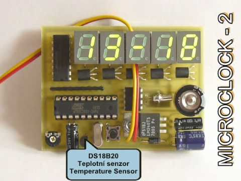 Led Clock Calendar Thermometer With At89c2051 Microclock
