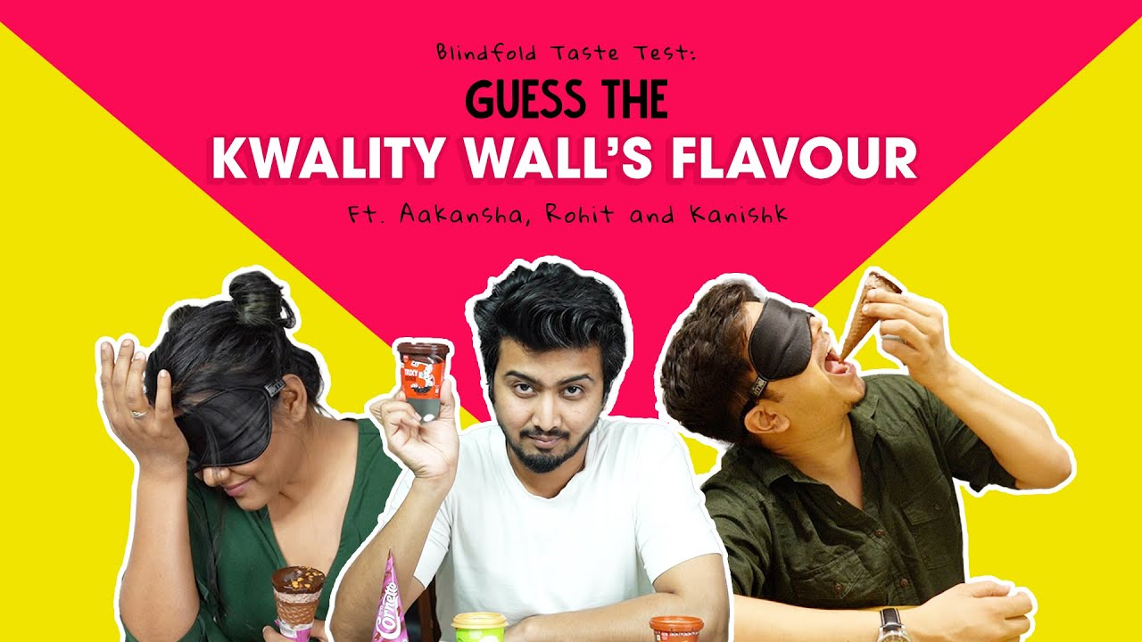 Blindfold Taste Test: Guess The Kwality Wall's Flavour | Ft. Aakansha, Rohit and Kanishk | Ok Tested