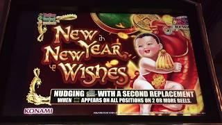 Konami NEW YEAR NEW WISHES Nice Slot Bonus Win