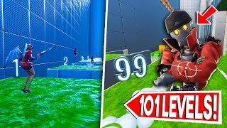 * 101 LEVEL * BOT DEATHRUN! -Creative Fortnite (Nederlands)