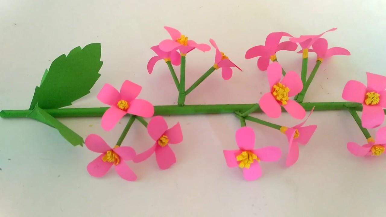 Cara Membuat Bunga Anggrek Menggunakan Kertas Origami Youtube