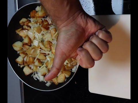 ЖАРЕНАЯ КАРТОШКА ОСОБЫМ СПОСОБОМ самый вкусный рецепт  на сале #какпохудетьобжираясьжаренойкартошкой