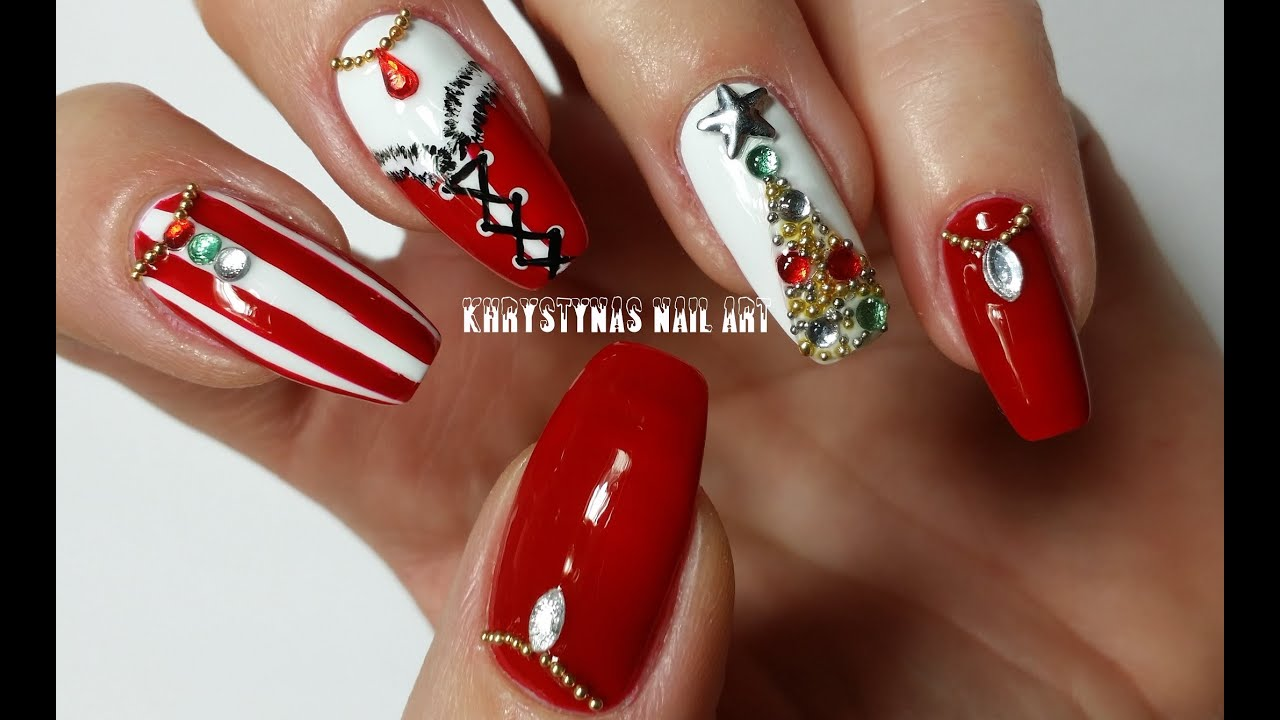 Christmasnew Years Nails Three Nail Art Designs For Holidays