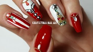 Christmas/New Years Nails: Three Nail Art Designs for Holidays (Khrystynas Nail Art)