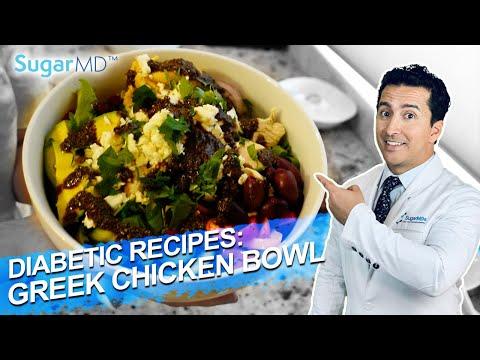 Mouth Watering Greek Chicken Power Bowl Recipe for Diabetics. SUGARMD