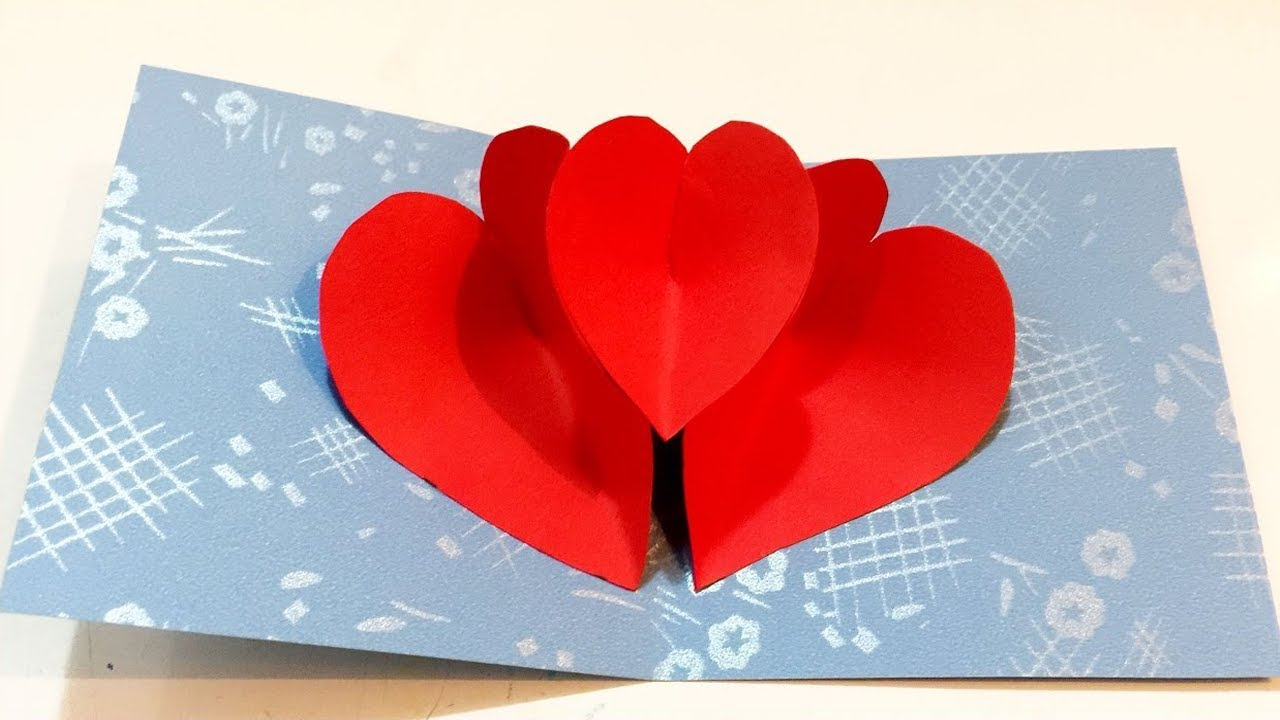 pop up heart card 💔 easy origami love shape tutorial