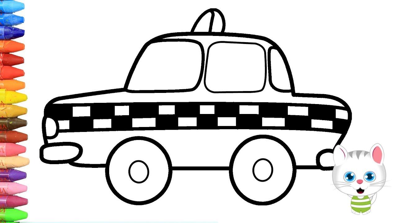 Taksi Nasil Yapilir Nasil Cizilir Mimi Ile Boyama Ve Resim Yapma