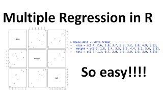 StatQuest: Multiple Regression In R