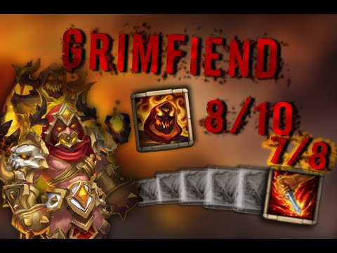 Grimfiend Gameplay 7/8 Life Drain , 8/10 Skill Castle Clash