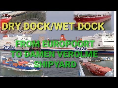 SHIPSPOTTING 2021// DRY DOCK/WET DOCK AT DAMEN VEROLME SHIPYARD||  20 SHIPS  AT PORT OF ROTTERDAM