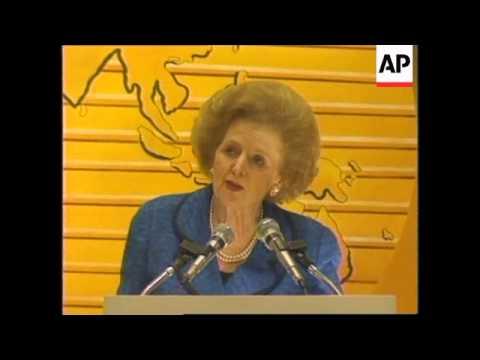 PHILIPPINES: MANILA: MRS THATCHER GIVES SPEECH ON ECONOMIC GROWTH