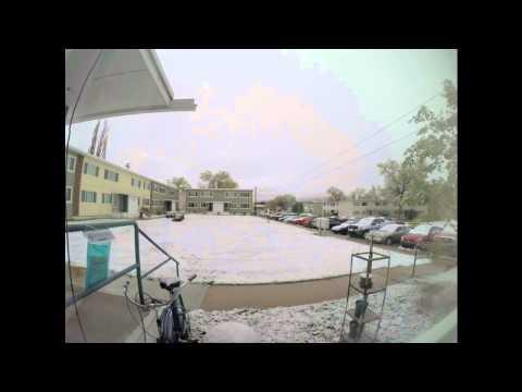 SNOW TIME LAPSE Los Alamos 4 26 2015 W/Music
